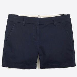 "JCrew Factory navy 5"" chino shorts size 6 NWT"